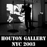 link button to show page titled Protest at Houton Gallery NYC 2003
