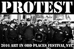 link button to show titled Protest at the Art in Odd Places festival 2016